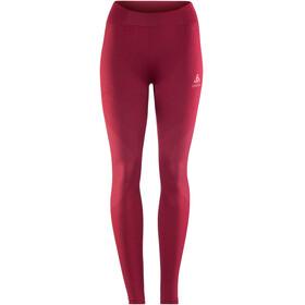 Odlo Suw Performance Warm Bottom Pants Women rumba red-mesa rose